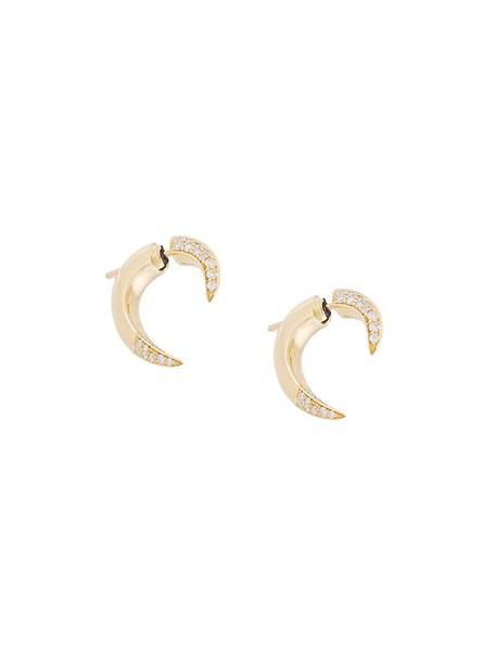 women earrings gold white yellow orange jewels