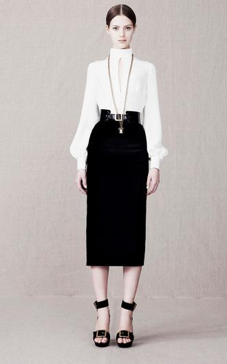 fashion blouse shoes lookbook alexander mcqueen