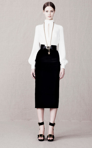 lookbook fashion alexander mcqueen shoes blouse
