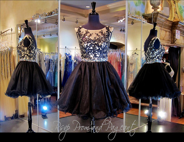 black short  dress black dress special occasion dress lace dress open back prom dress formal event outfit short party dresses short prom dress prom dress