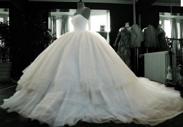 dress wedding dress wedding gown ball gown dress white dress tulle wedding dress