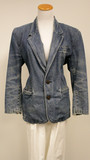Denim wash liz wear blazer (size