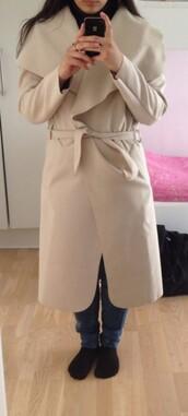 coat,beige jacket,trench coat,boohoo.com