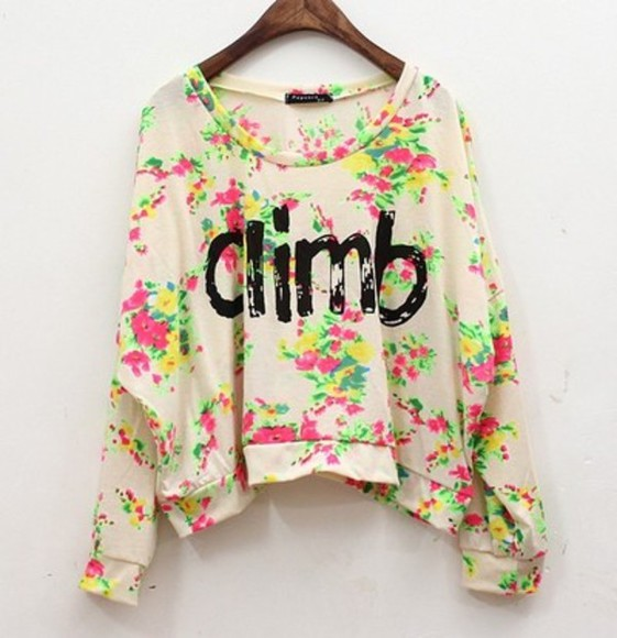 t-shirt sweater short shirt blouse floral retro wing sleeves bat wing sleeves cotton