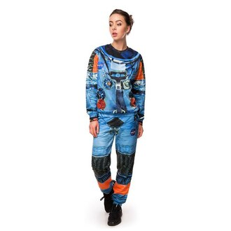 sweater sweatpants printed sweater printed sweatpants all over print full print space suit astronaut suit pants joggers womens sweater full print sweater