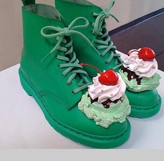 shoes cutesy japanese boots icecreme drmartens martins greens ariana grande miley cyrus