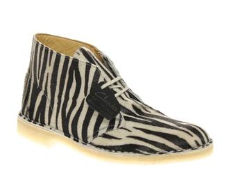 shoes zebra clarks desert boots