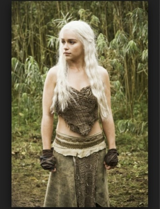 khaleesi gameofthrones game of thrones bohemian bohem gypsy dragons fantasy dress halloween steampunk top steampunk corset ygritte boho top