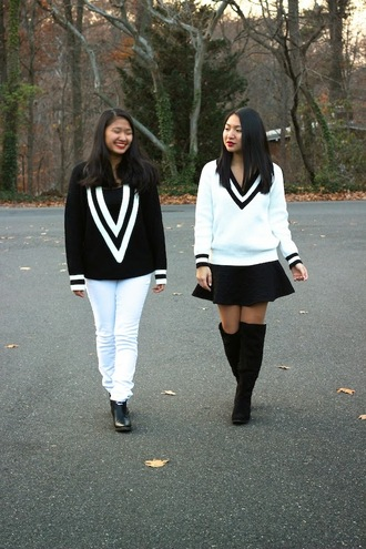 black and white blogger looks by lau friends