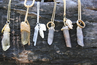 jewels crystal necklace gemstone raw stone rock necklace fashion tumblr boho lookbook