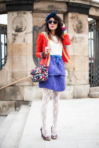 macademian girl jacket bag dress shoes belt sunglasses jewels