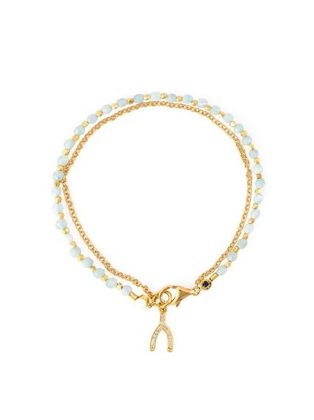 Astley Clarke women wishbone gold yellow grey metallic jewels