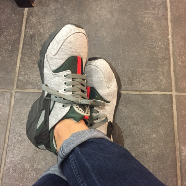 5cb14f1dcb1b ... Custom Fleece Nike Air Huarache x Gucci ...