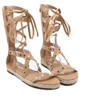 shoes gladiators studded studded gladiators lace up espadrilles