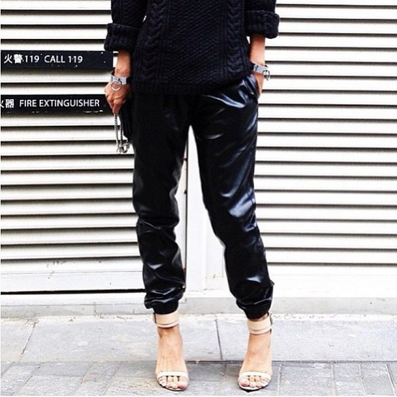 streetstyle jeans leather jeans leather pants black leather pants streetstyleinmanila sweater