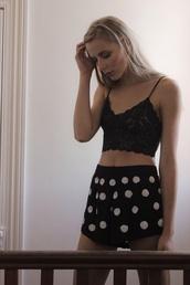 underwear,bralette,lace,black,herpony,her pony