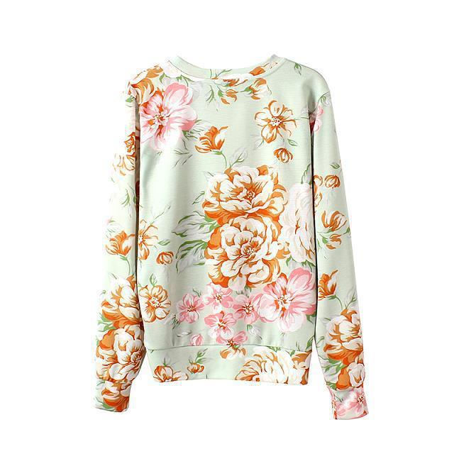 Aliexpress.com : Buy 2014 Femininos Roupas Women Blusas Pullovers Jerseys New Winter Fashion Flower Print Long Sleeve O Neck Sweater Sweatshirts from Reliable sweatshirts womens suppliers on Vogue Official Online Shop
