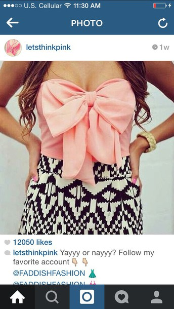 dress baby pink printed skirt black and white