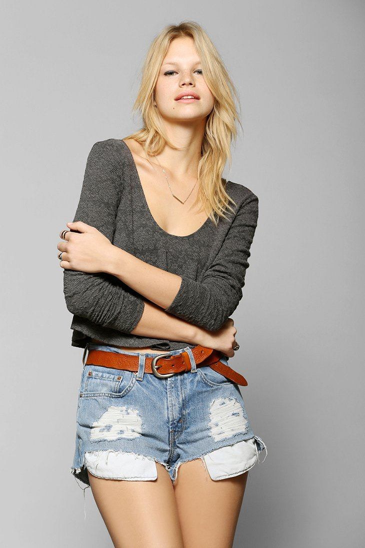 Urban Renewal High/Low Denim Short - Urban Outfitters