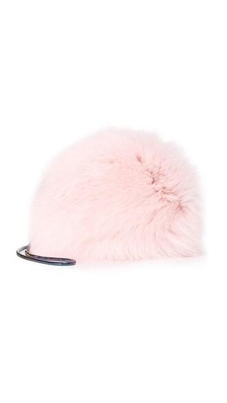 mini fur love bag mini bag pink