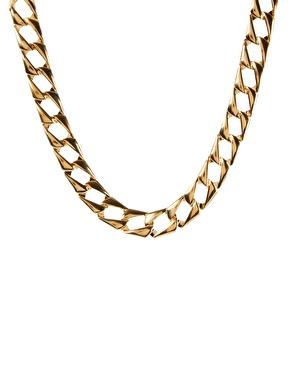 ASOS | ASOS – Vintage-Halskette aus flachen Kettengliedern bei ASOS