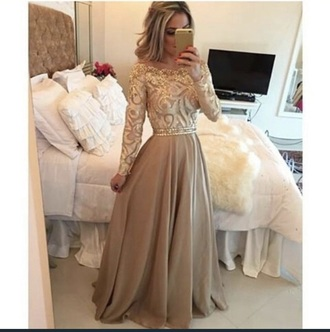 dress gold beautiful glitzer long dress
