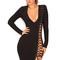 Clothing : bandage dresses : 'daniela' black lace up bandage dress