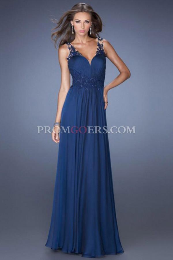 dress blue prom dress floor length prom dress lace prom dress chiffon prom dress evening dress formal prom dress graduation dress
