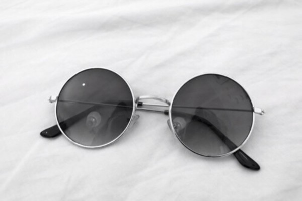 sunglasses grey vintage round sunglasses