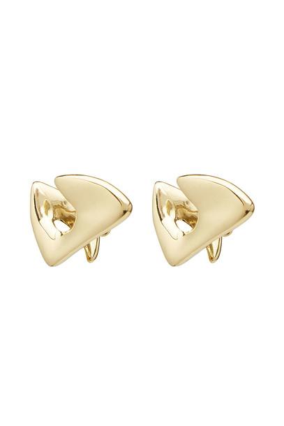 Ellery Mobius Twist Earrings  in gold