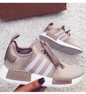 shoes,adidas nmd,adidas,sneakers,nude,adidas shoes