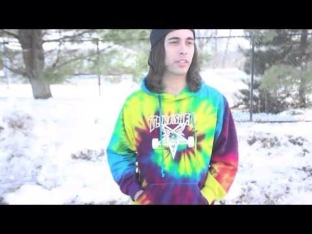 Sweater: rainbow, tie dye, thrasher, hoodie, vic fuentes, piece