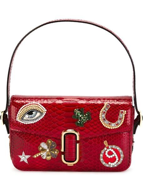 Marc Jacobs snake women embellished snake skin bag shoulder bag purple pink