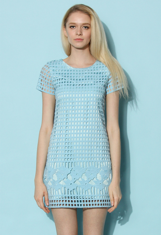 dress chicwish blue dress shirt dress spring dress summer dress chicwish.com