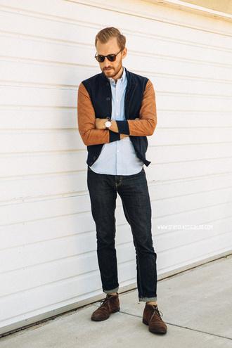 stay classic jacket jeans shoes jewels sunglasses belt