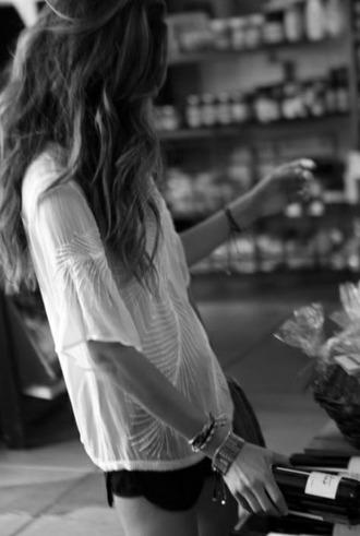 blouse t-shirt summer white girl white t-shirt white blouse