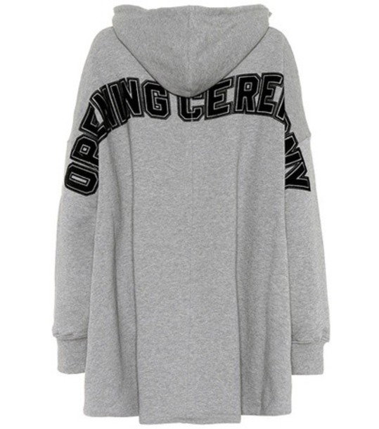 opening ceremony poncho cotton grey top