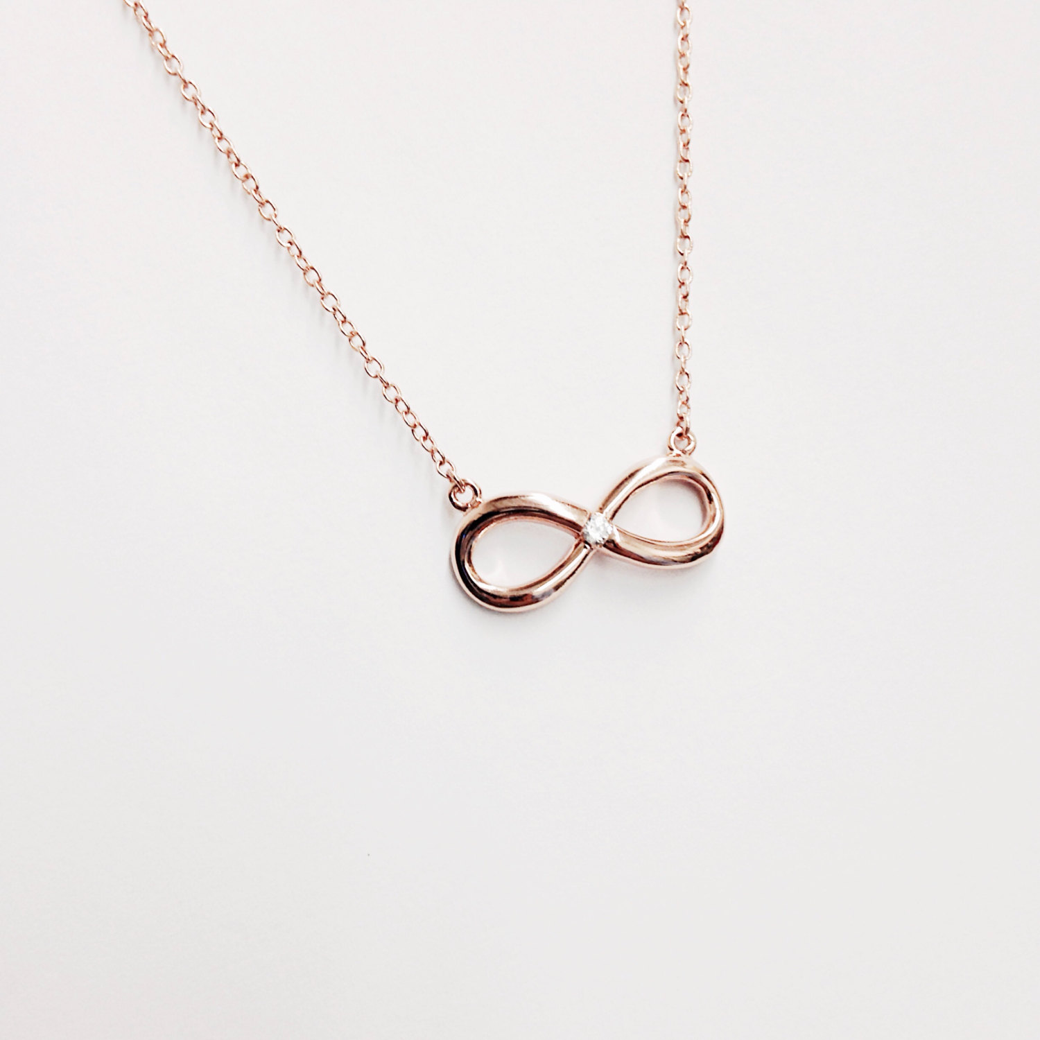 Rose gold infinity necklace, rose gold necklace, delicate necklace, minimalist necklace, infinity necklace, valentines gift