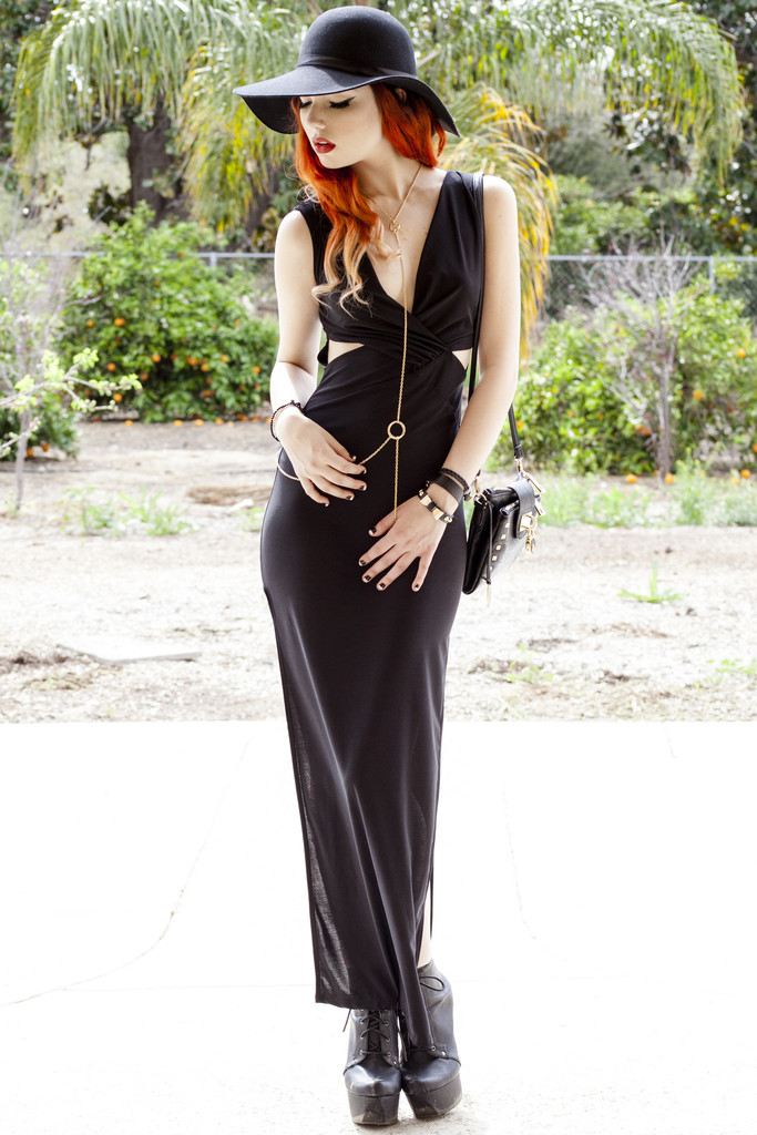 Knotted Black Sexy Maxi Dress | Obsezz