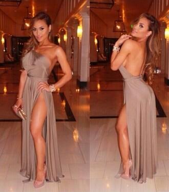 sexy dress one shoulder dresses backless dress maxi dress