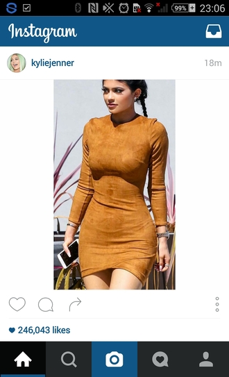 dress kylie jenner fall dress kylie jenner dress fall colors suede dress long sleeve dress