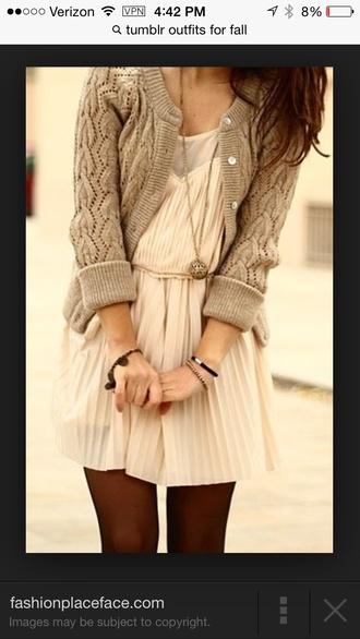 beige dress cream