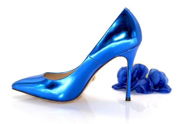 Blue Classic High Heel