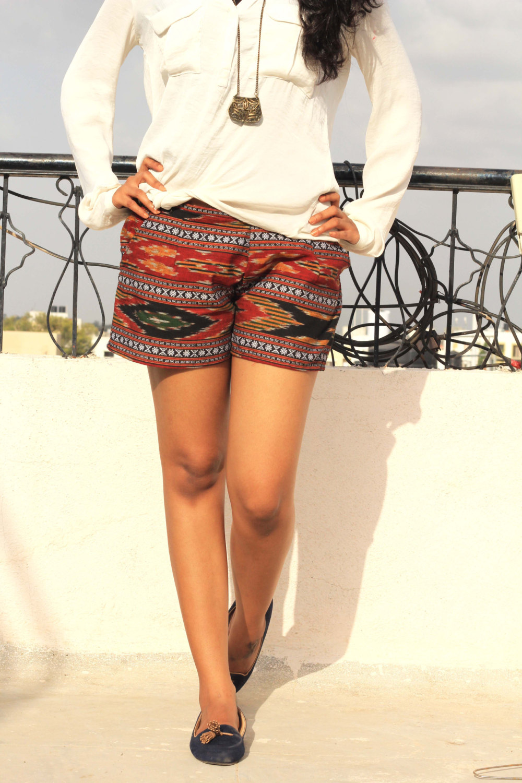 BOHO HIPPIE Shorts , Summer Shorts, Light Weight Shorts, Indian Handloom Khadi Short, Women Capri,Chino Shorts,Sexy Shorts, Ripped shorts