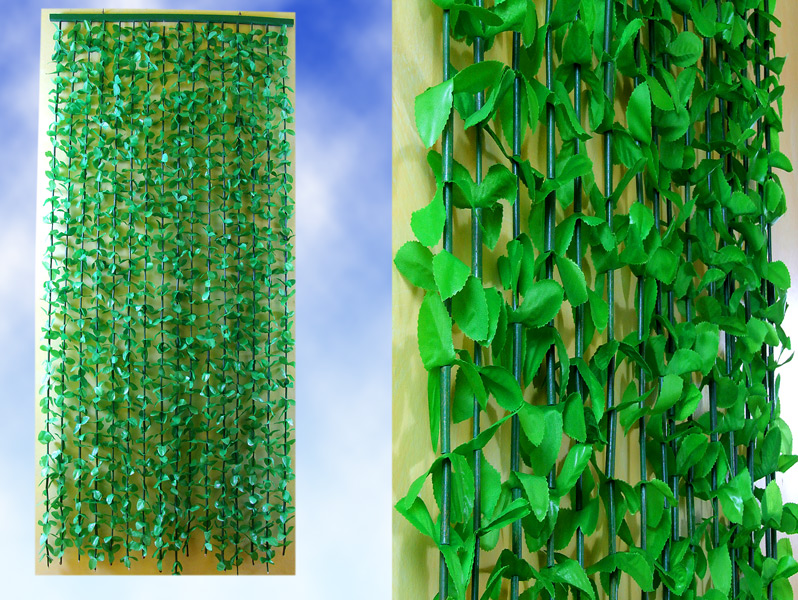 Charming Jungle Leaves String Door Screen Green Plant Curtain Divider
