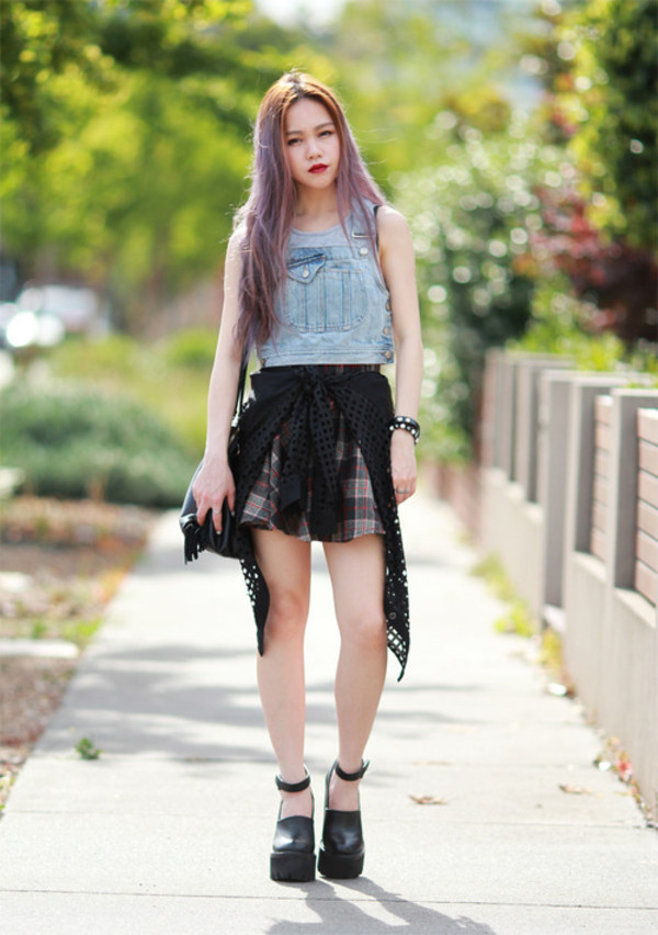 chloe ting t-shirt skirt bag shoes