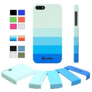 "KHOMO ® Blue Gradient Slider ""Dock Friendly"" Case with Rubberized texture for Apple iPhone 5 / 5s on Wanelo"