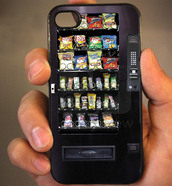 jewels,phone cover,vending machine,funny,bag,iphone cover,black,mini fridge,machinery