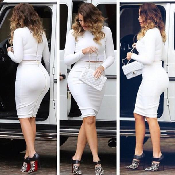 top khloe kardashian skirt dress