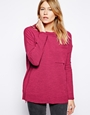 ASOS Oversized Jumper with Pocket at asos.com